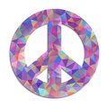 Peace symbol on white background illustration of colorful Royalty Free Stock Photo