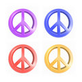 Peace symbols Royalty Free Stock Photos