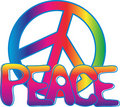 PEACE text and PEACE sign Royalty Free Stock Image