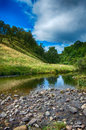 Peace and tranquillity in scottish glen perfect place for you to escape Royalty Free Stock Photography