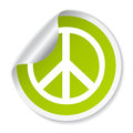 Peace vector symbol green illustration Royalty Free Stock Image