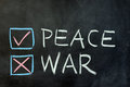 Peace or war Royalty Free Stock Photo