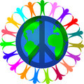 Peace in a World of Diversity Royalty Free Stock Photo