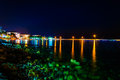 Peaceful Bay Night Scenery Royalty Free Stock Photo
