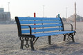 Peaceful Bench Seat in beach side view, Dubai. Royalty Free Stock Photo