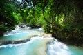 Peaceful cascade Waterfall Royalty Free Stock Photo