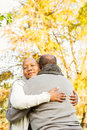Peaceful happy senior couple embracing Royalty Free Stock Photo
