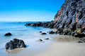 Peaceful image shoreline scenery laguna beach california image shot to capture motion water Stock Photography