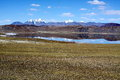 Peaceful lake in tibet a Royalty Free Stock Photography