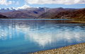 Peaceful lake in tibet the beautiful yamdrok tso Royalty Free Stock Image