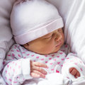 Peaceful newborn baby sleeping Royalty Free Stock Photo