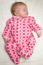 Peaceful Sleeping Baby Newborn Girl Stock Images