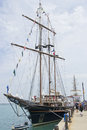 Peacemaker docked at navy pier may be used to advertise for tall ships exhibit Royalty Free Stock Photography
