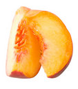 Peaces of peach Stock Photos
