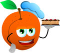 Peach as confectioner vector style illustrated vector format is available Royalty Free Stock Photos