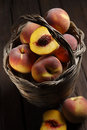 Peach basket Stock Photography