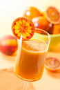 Peach and blood orange juice Royalty Free Stock Photo