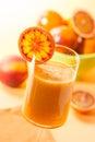 Peach and blood orange juice Royalty Free Stock Photo