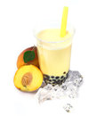 Peach Boba Bubble Tea Royalty Free Stock Photo