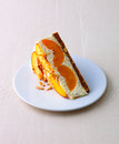 Peach cake Royalty Free Stock Image