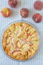 Peach cake homemade fresh lemony Royalty Free Stock Photography
