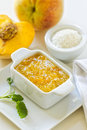 Peach and coconut jam