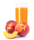 Peach fruit juice in glass Royalty Free Stock Photography