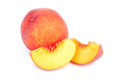 Peach fruit ripe on a white background cutout Royalty Free Stock Photos