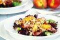 Peach, Gorgonzola And Pastrami Salad Royalty Free Stock Photo