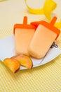 Peach ice-cream Royalty Free Stock Photo