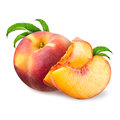Peach isolated on white background Royalty Free Stock Images