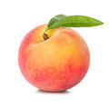 Peach isolated on white Royalty Free Stock Photo