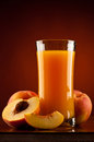 Peach juice Royalty Free Stock Images