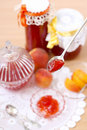 Peach marmalade Royalty Free Stock Image