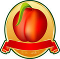 Peach medallion Royalty Free Stock Photo