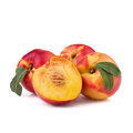 Peach or nectarine isolated on white background Stock Photo