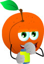 Peach opening a beer can vector style illustrated vector format is available Royalty Free Stock Photography