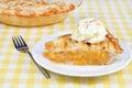 Peach Pie Ala Mode Royalty Free Stock Photo
