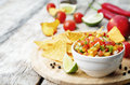 Peach salsa Royalty Free Stock Photo
