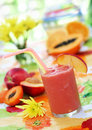 Peach smoothie Stock Photography