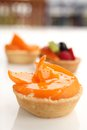 Peach tarts Stock Photography