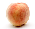 Peach in a white background pictured Stock Photography