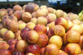 Peaches at farmers market Royalty Free Stock Photo
