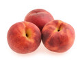 Peaches isolated on white Royalty Free Stock Photo