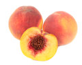 Peaches Isolated on White Background Royalty Free Stock Photo