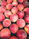 Peaches in the market Royalty Free Stock Photo