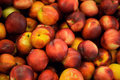 peaches on a market Royalty Free Stock Photo