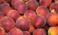 Peaches a tray of fresh Stock Photos