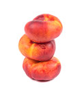 Peaches  on the white background Royalty Free Stock Photo