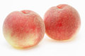 Peaches in a white background Royalty Free Stock Photo